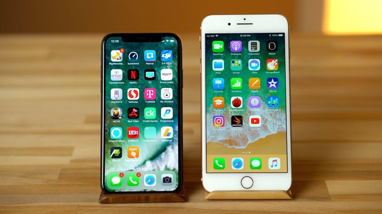 so sánh iphone x và iphone 8 plus